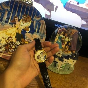 Beauty and the beast Snow globe,watch and plate🌹✨